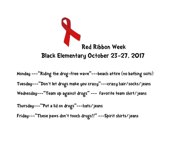 Red Ribbon Week - Daily Theme